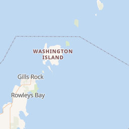Distance between Escanaba, MI and Washington Island, WI
